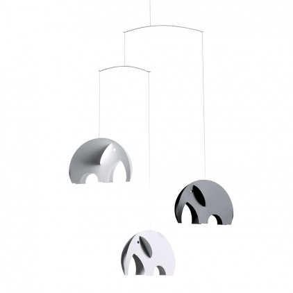 grey elephant baby mobile Flensted for baby nursery decoration
