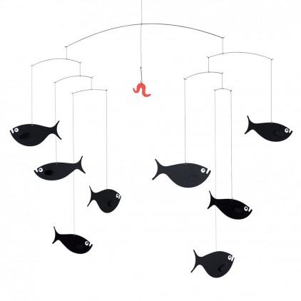 mobile bébé banc de poissons Flensted pour décoration chambre bébé