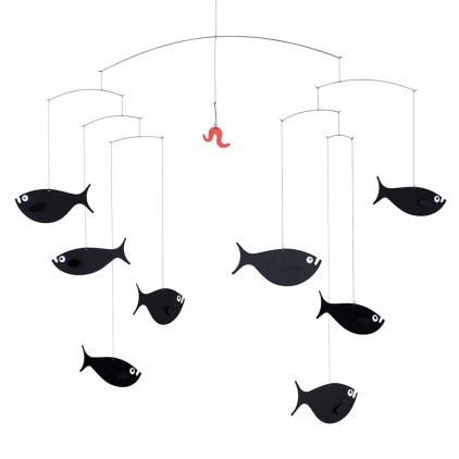 shoal of fish baby mobile Flensted for baby nursery decoration
