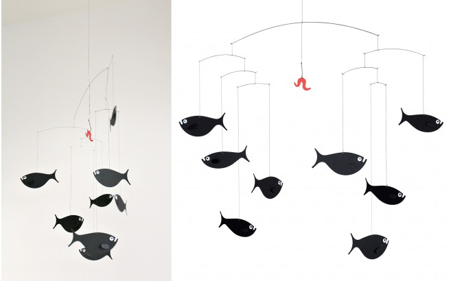 móvil banco de peces Flensted para habitación infantil