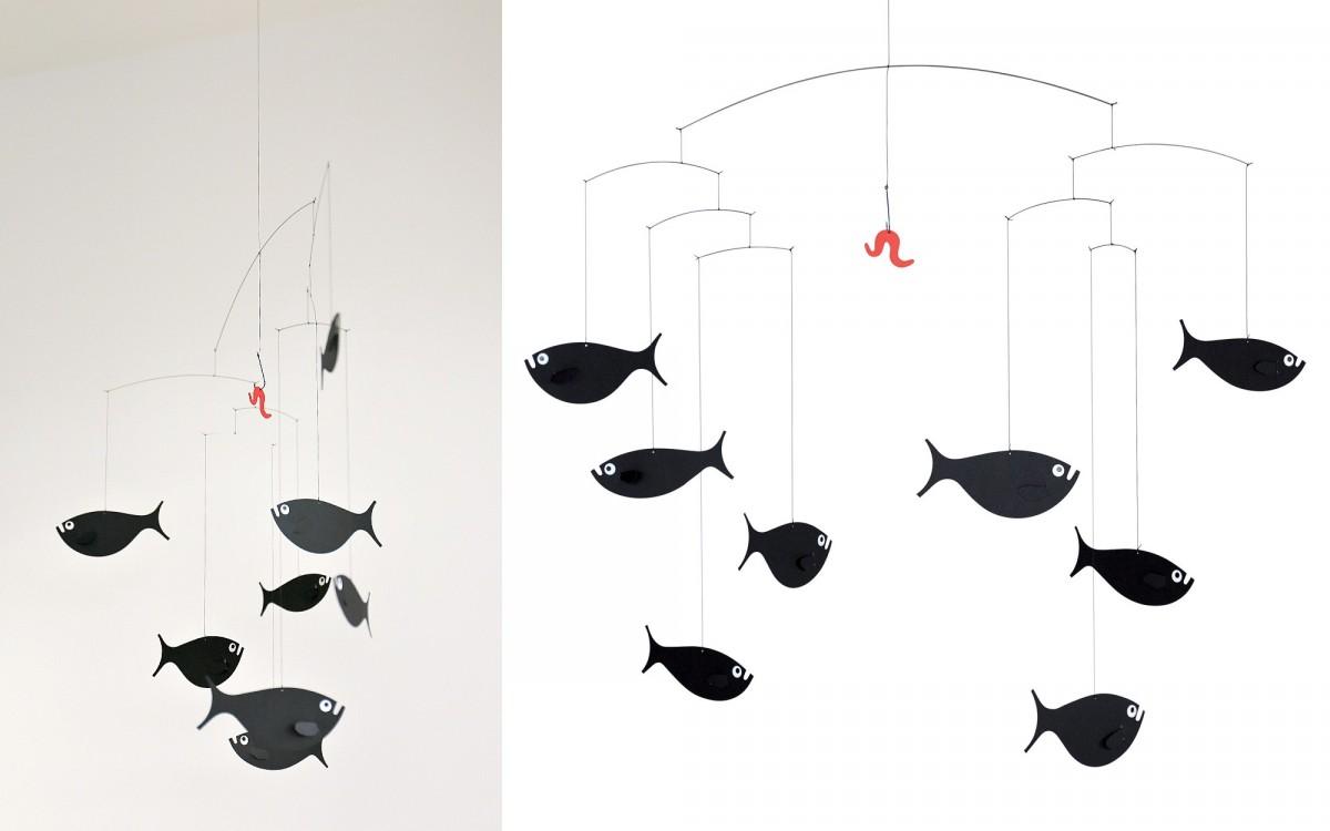 móvil banco de peces