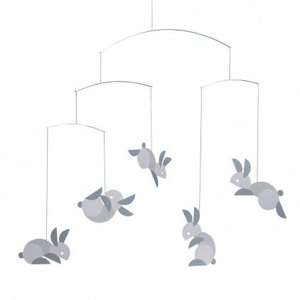 bunny nursery mobile Flensted for baby room decoration