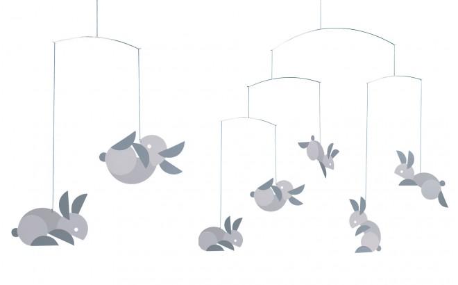 móvil conejos Flensted para habitación infantil