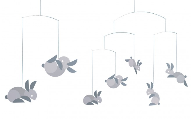 rabbits mobile Flensted for kids room