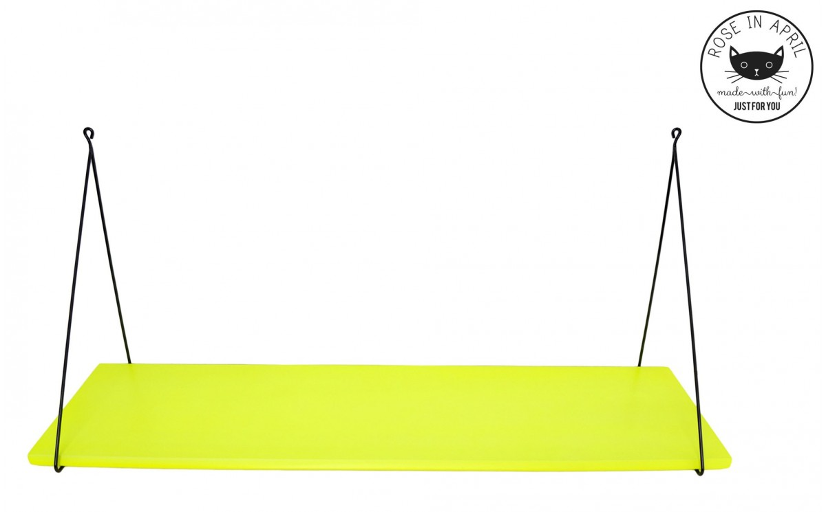 etag re babou 1 jaune fluo par rose in april etag re murale design pour chambre enfant. Black Bedroom Furniture Sets. Home Design Ideas