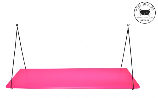 Babou shelf fluo pink by Rose in April