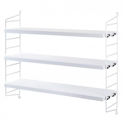 kids wall shelves string pocket white
