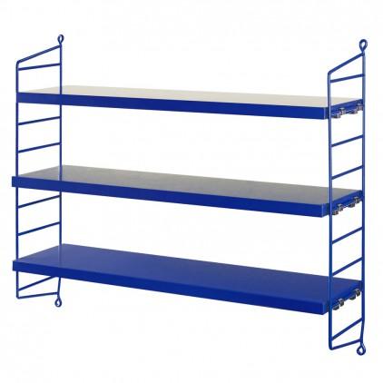 kids wall shelves string pocket cobalt blue