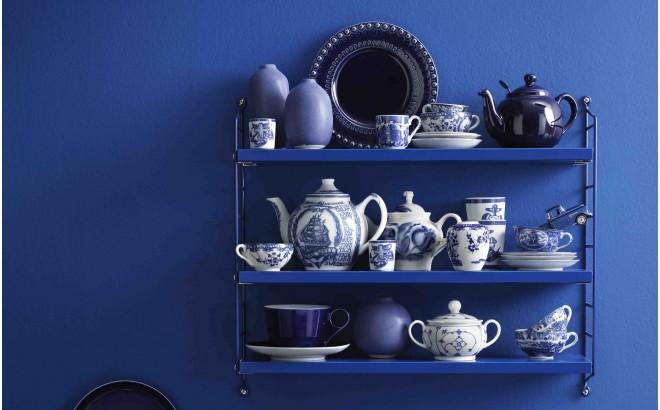 estantería de pared para habitación infantil string pocket azul cobalt
