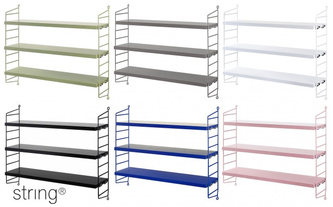 kids wall shelves string pocket