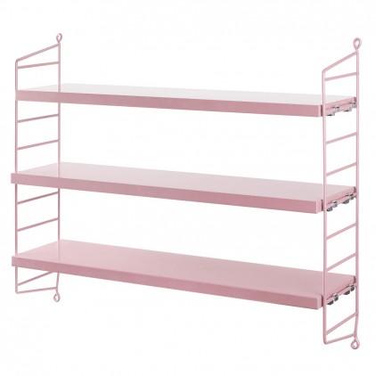 kids wall shelves string pocket pink