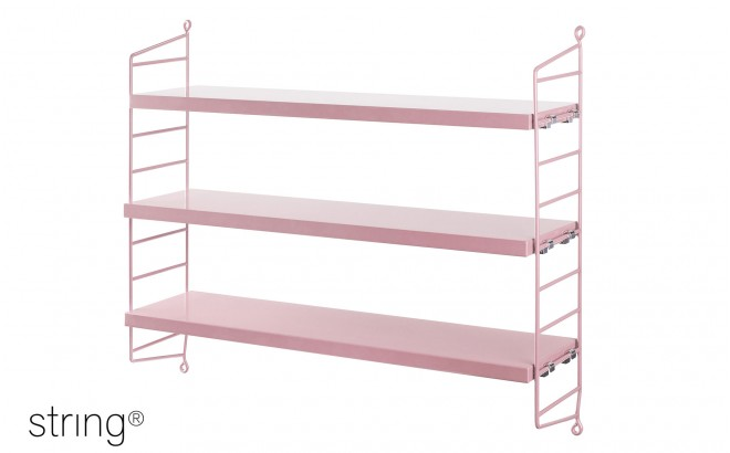 kids room shelves string pocket pink