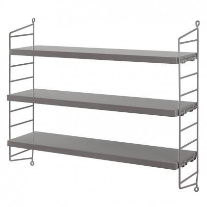 kids wall shelves string pocket grey