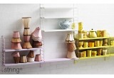 kids room shelves string pocket grey