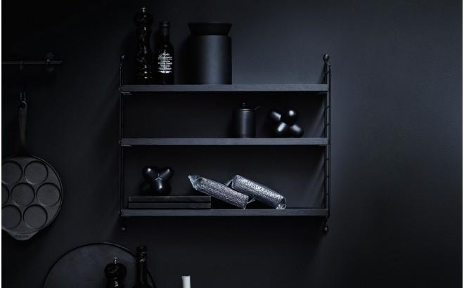 estantería de pared para habitación infantil string pocket negro