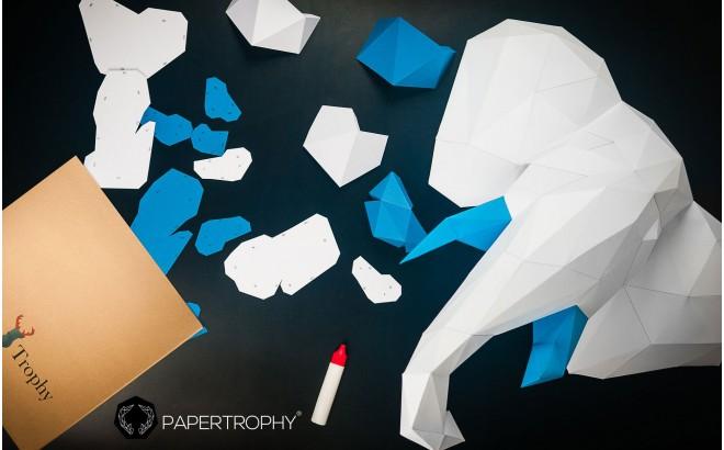 trophées muraux animaux en papier
