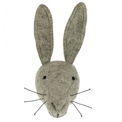hare head wall trophy by fiona walker