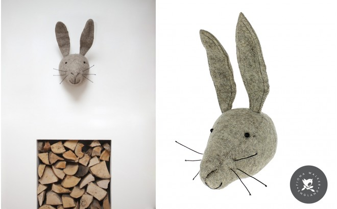Felt Animal Heads by Fiona Walker, Hare
