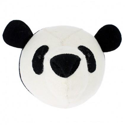 trophée mural tête de panda fiona walker