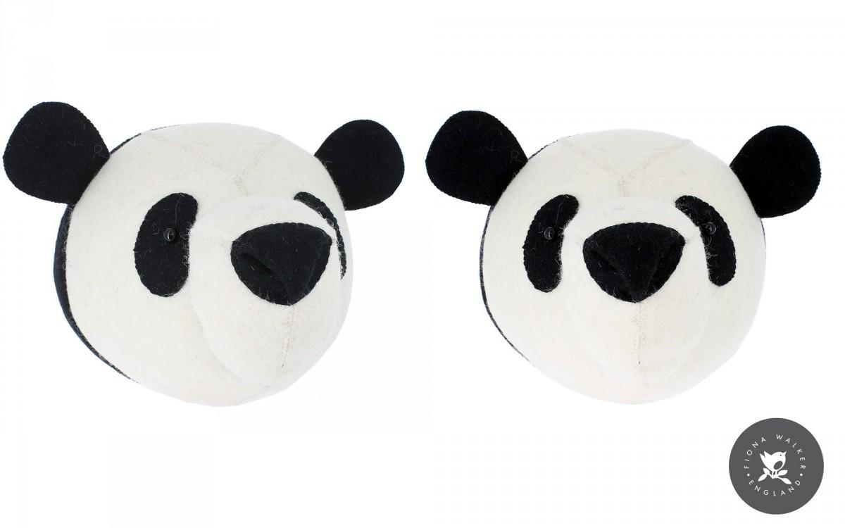 trophée mural tête de panda
