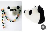 Trophées Animaux en Laine par Fiona Walker, Panda