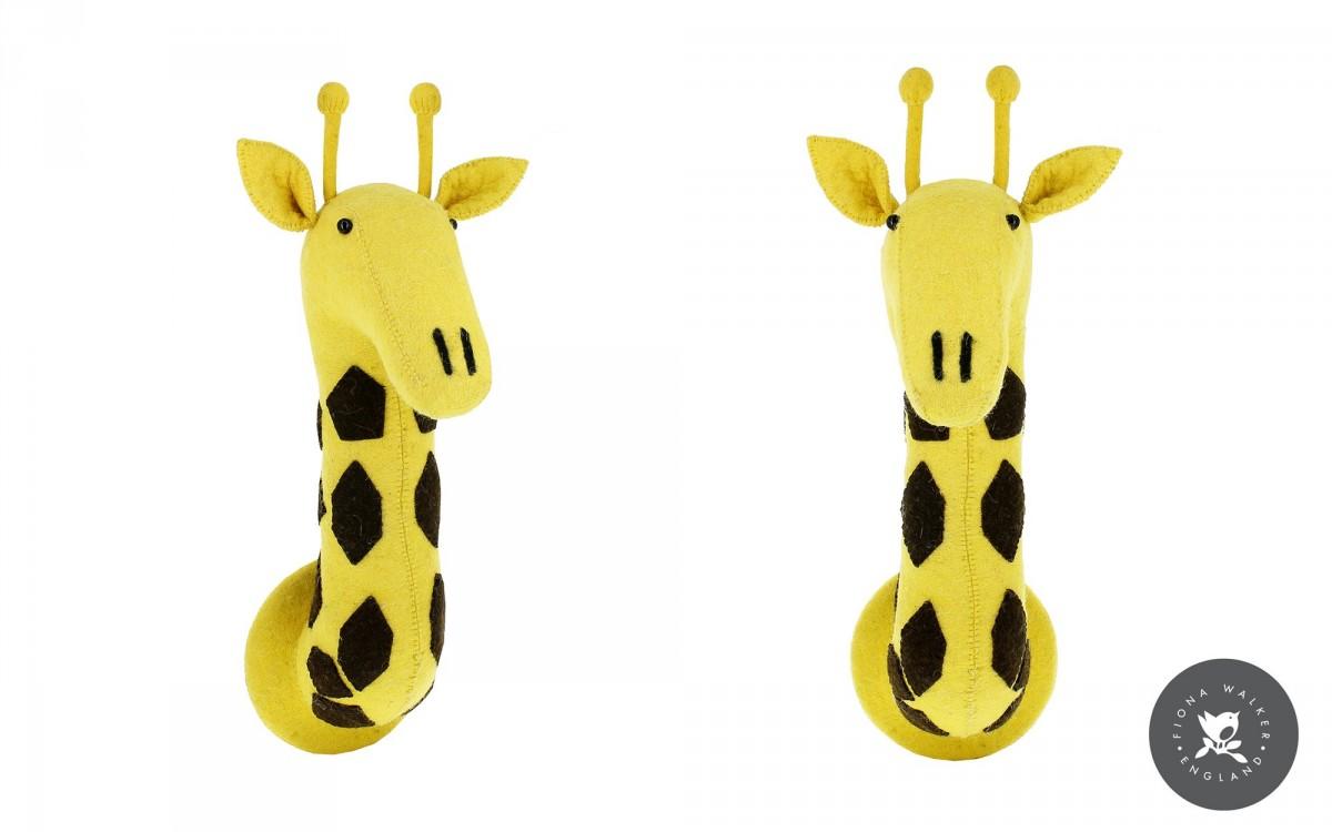 trophée mural tête de girafe