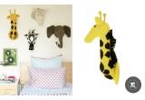 Trophées Animaux en Laine par Fiona Walker, Girafe