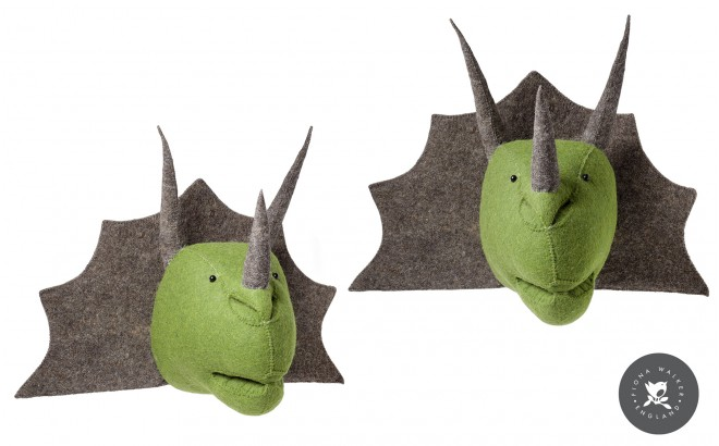 Triceratops trophy Wall Decor for Kids Room
