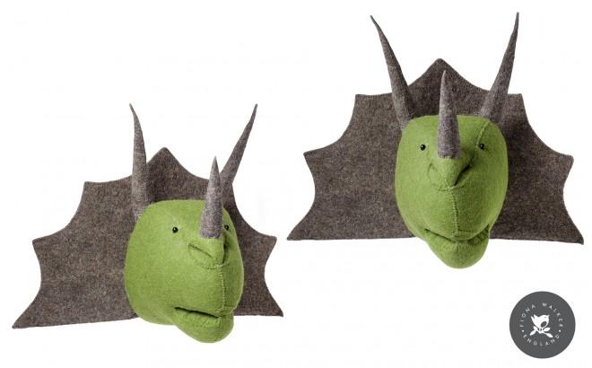 Trophée Triceratops pour Décoration de Chambre Enfant