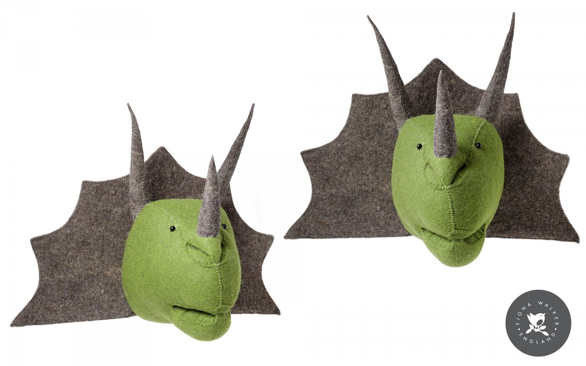 trofeo de pared dinosaurio