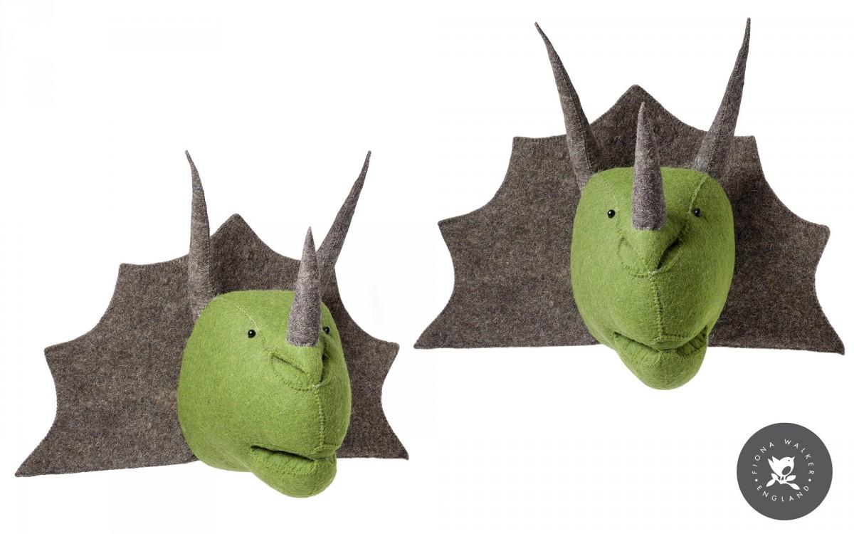 trophée mural tête de dinosaure