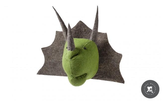 Trophées Animaux en Laine par Fiona Walker, Dino Triceratops