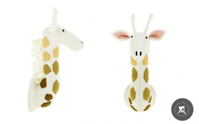 Trophée Tête de Girafe pour Décoration de Chambre Enfant