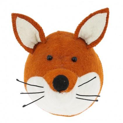 fox head wall trophy by fiona walker