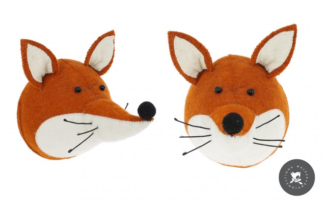fox animal trophy Wall Decors for Kids Room
