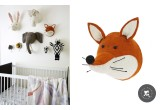 Felt Animal Heads by Fiona Walker, Fox