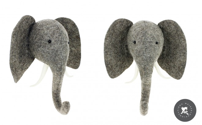 Trofeo Cabeza Elefante para Decoración de Habitación Infantil