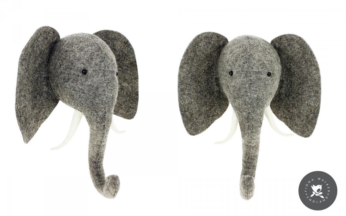trophée mural tête d'éléphant