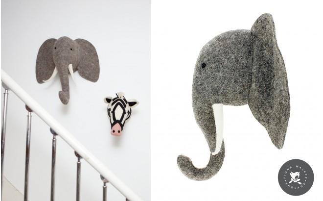 Trofeos Animales de Peluche por Fiona Walker, Elefante