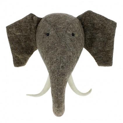trophée mural tête éléphant fiona walker