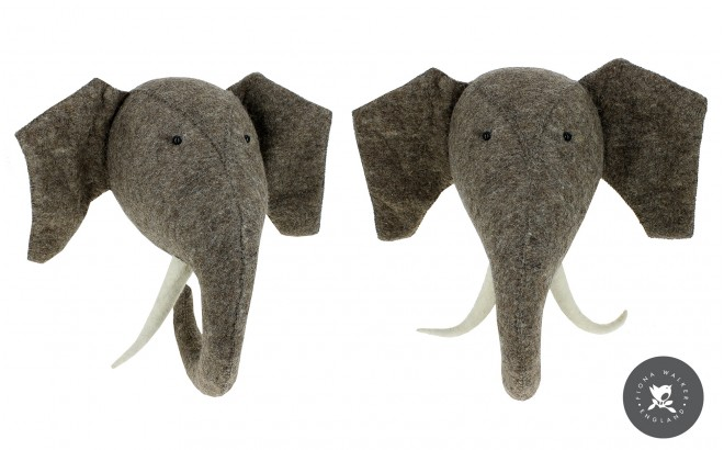 elephant animal trophy Wall Decors for Kids Room