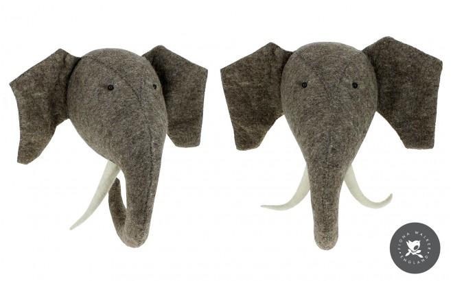 Trophée Tête Elephant pour Décoration de Chambre Enfant