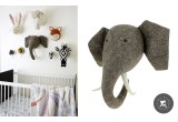 Trophées Animaux en Laine par Fiona Walker, Elephant