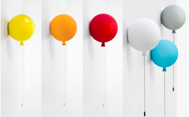 Kids balloon wall light baby children room wall lamp balloon kids balloon wall light lamp aloadofball Image collections