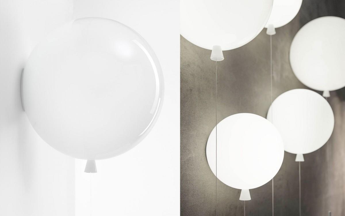 lámpara de pared globo (blanco)