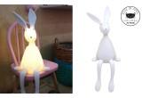 lámpara luz infantil nocturna conejo blanco por Rose in April