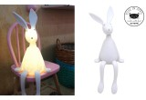 lampe veilleuse enfant lapin blanc par Rose in April