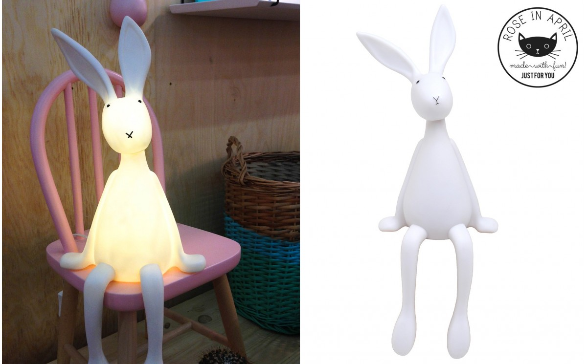 lampe joseph le lapin veilleuse enfant lapin par rose in april. Black Bedroom Furniture Sets. Home Design Ideas