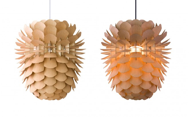 pine cone wood light lamp for kids room