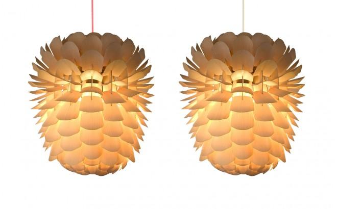 Zappy, lampara infantil piña de pino de madera